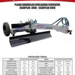 Plaina Hidráulica Niveladora Reversível - SCARPLAN